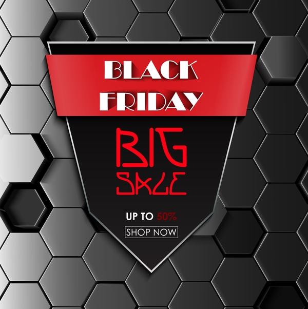 Svart hexagon fredag försäljning