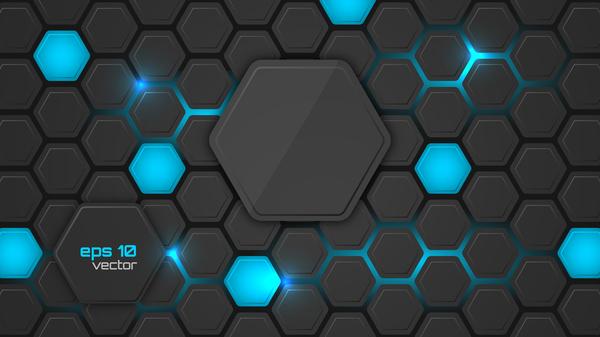 noir hexagone fibre carbone