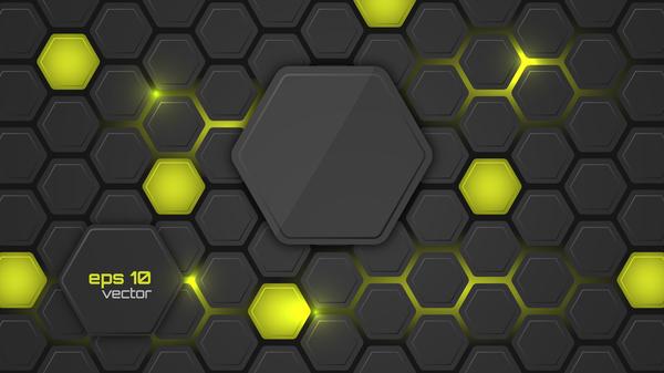 Svart kol hexagon fiber