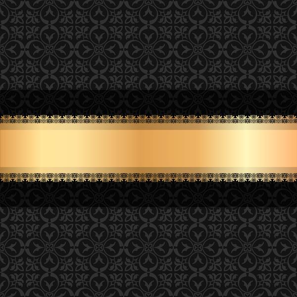 Svart ribbon lyx guld Dekoration