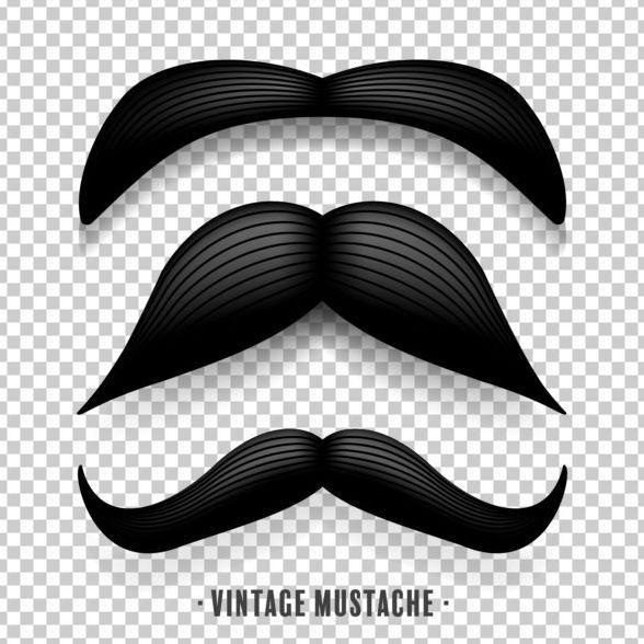 Svart mustasch