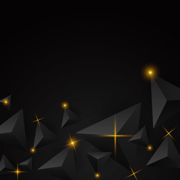 triangolo stella Nero luce