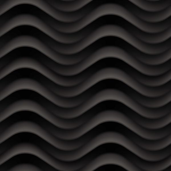 texture sans soudure ondulés noir motif