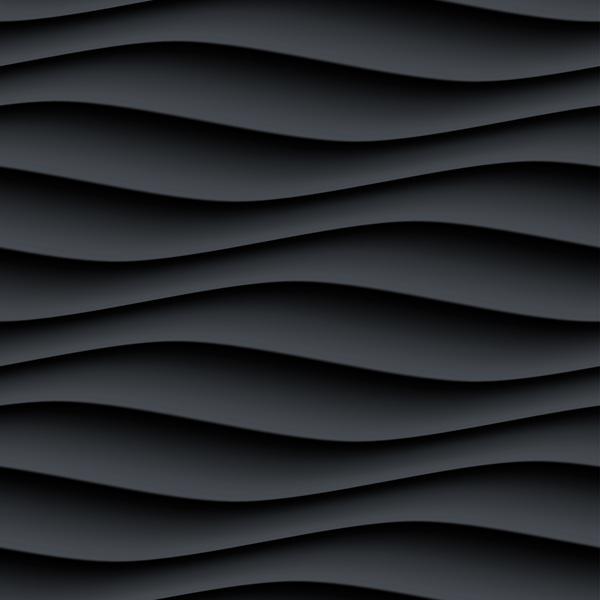 wellig textur Schwarz nahtlos Muster