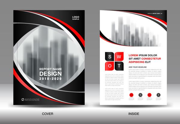 Svart rod omslag broschyr betänkande årliga