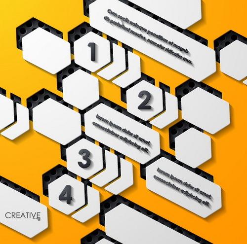 、黒い、黄色メタ インフォ グラフィック