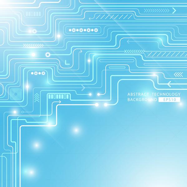 tecnologia circuito blu astratto