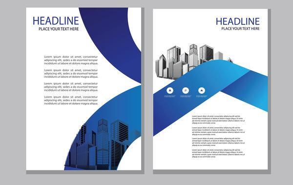 resume magazine brochure bleu