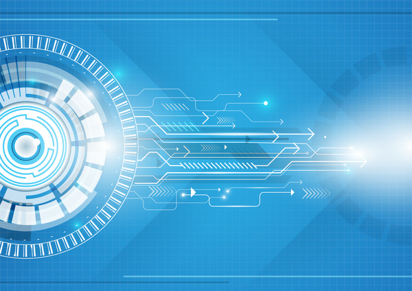 Technologie géométrique concept cercle bleu Abstrait
