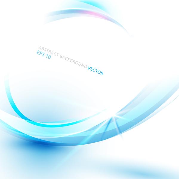 Technologie ligne courbe concept bleu Abstrait
