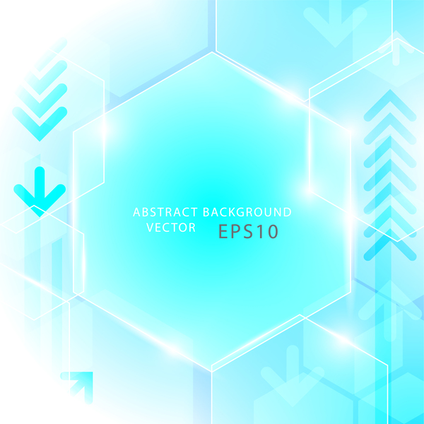 tecnologia geometrico esagono concetto blu astratto