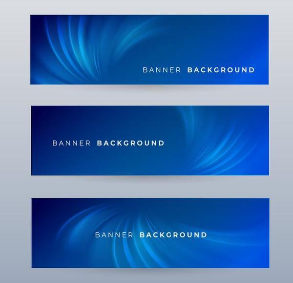 modello blu banner