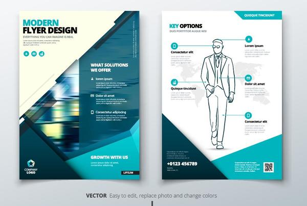 business Broschüre blau Abdeckung