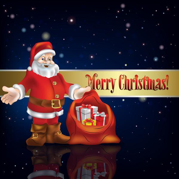 santa Noel decorations bleu