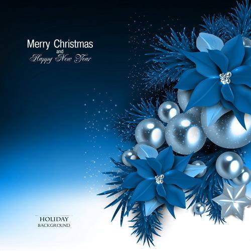 shiny Natale gioielli blu