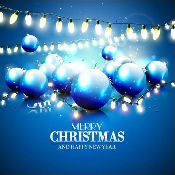 Weihnachten Licht Kugeln Glühbirne Dekoration blau