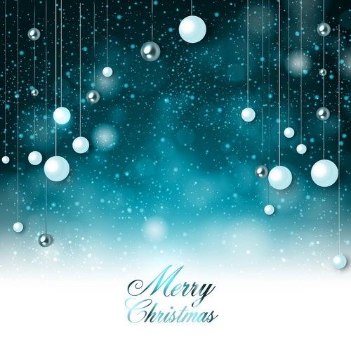 Natale decorazioni blu