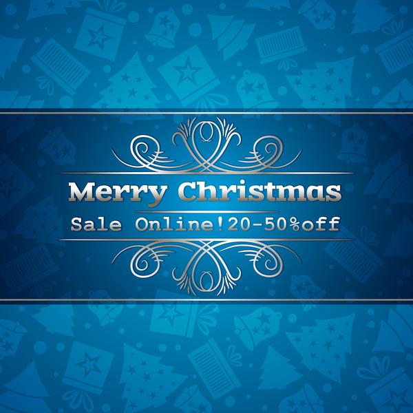 Weihnachten sale Rabatt blau