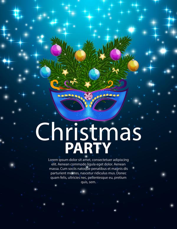 jul fest blå affisch