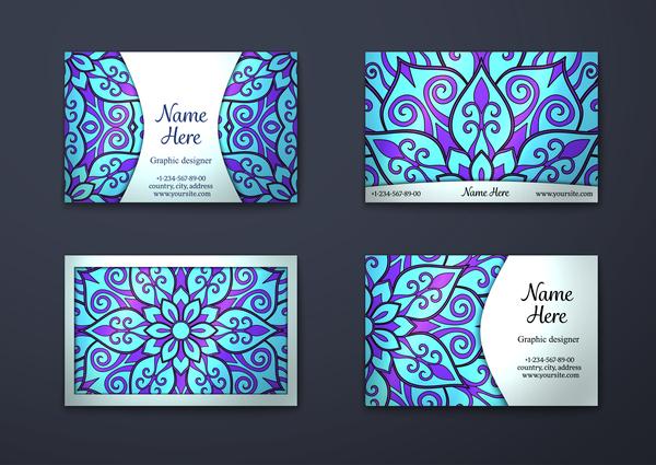 monster kort dekorativa blå Affärer
