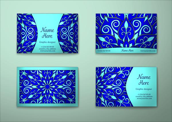 pattern decorative carta business blue