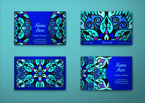 pattern decorative carta business blue