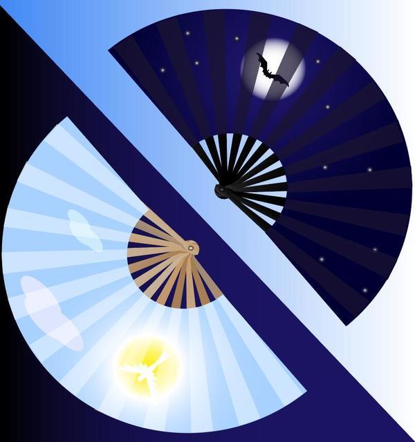 pieghevole fan blu