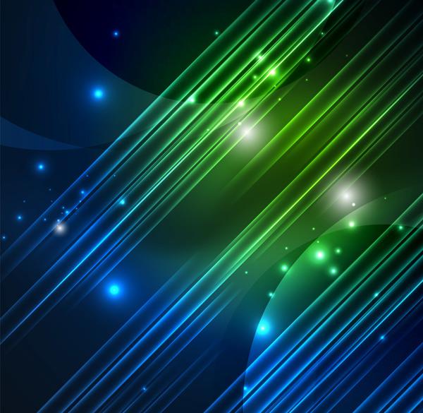 Polar leuchtet grün blau