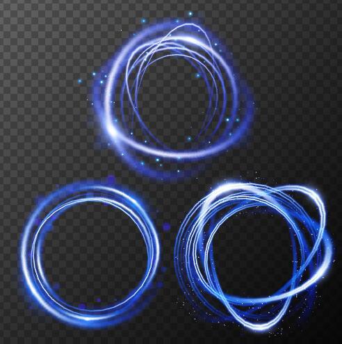 rotondo leggero effetto blu
