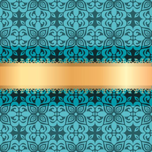 ribbon luxury gold decoration blue