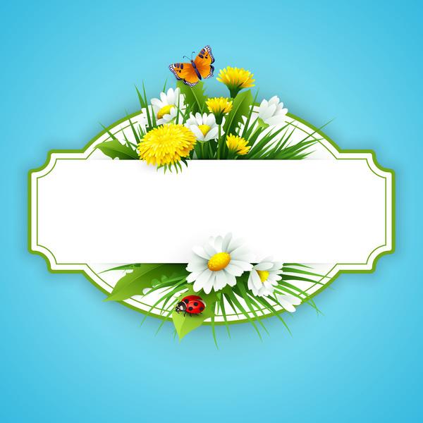 primavera Fiore etichetta blu