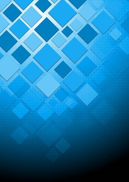 squre blå Abstrakt