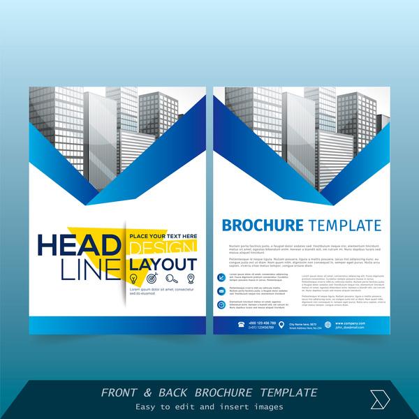 stili coprire brochure blu