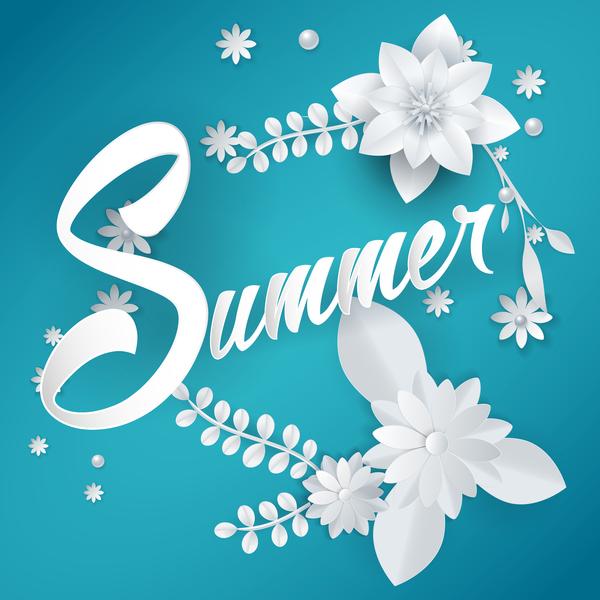 Fiore estate blu bianco