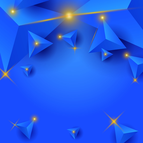 triangel stjärnor ljus blå