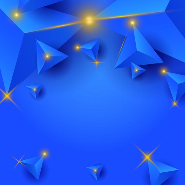triangolo stella luce blu