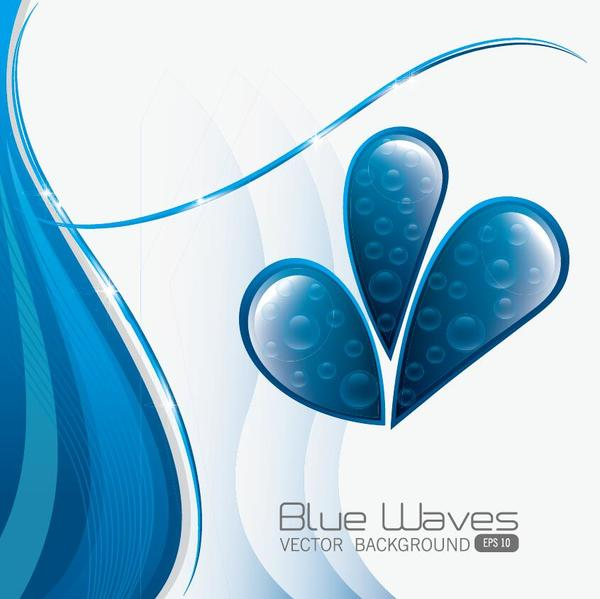 wate blå Abstrakt