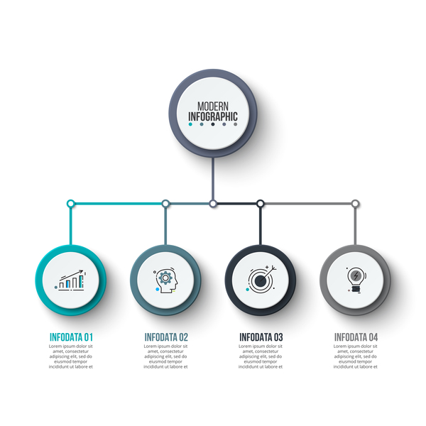 Infografik grau blau