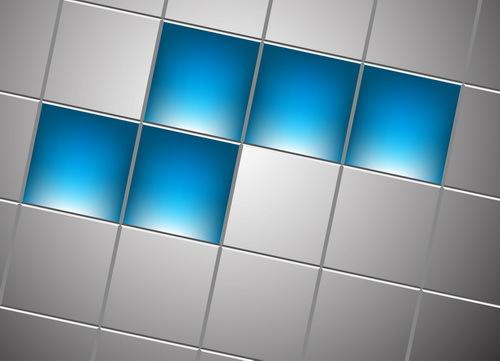 Quadrat grau blau