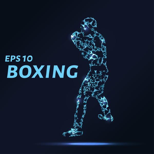 、ボクシング、ライン、ポイント