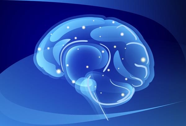 Neuroni Del Cervello Con Vettori Di Sfondo Azzurro 03 Welovesolo