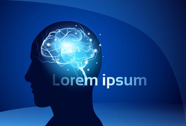 neuroni cervello blu