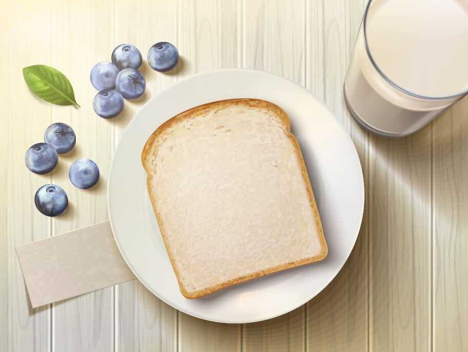 Milch Heidelbeere Brot