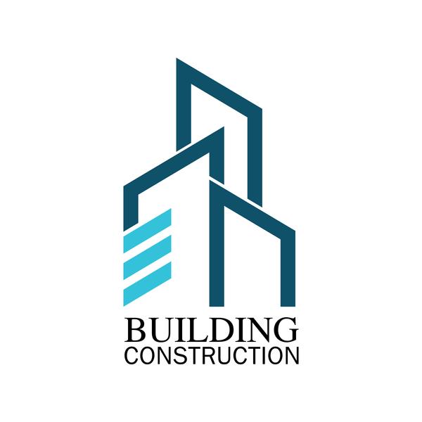 logotyp konstruktion byggnad