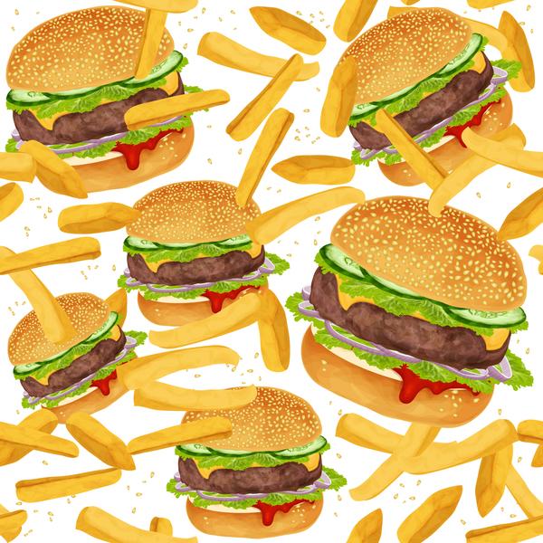 senza giunte reticolo patatine fritte hamburger