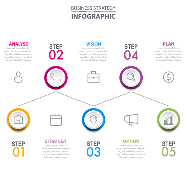 Strategie infographie affaires