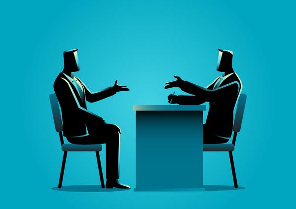 silhouette Job Interview Geschäftsmann