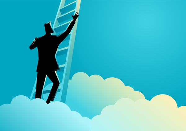 stege silhouette framgång affärsman