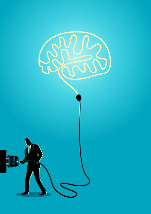 プラグ シルエット 、脳、実業家