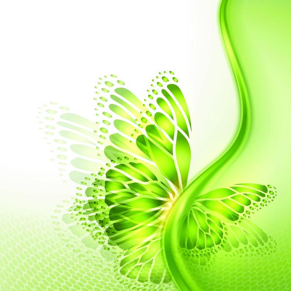 、抽象的な、蝶の翼